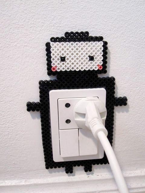 Hama Art: cute robot outlet decoration