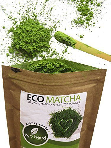 Japanese Matcha Green Tea Powder - 100% Certified Organic - Natural Energy & Focus Booster Packed With Antioxidants. Perfect Matcha Tea For Mixing In Lattes, Smoothies & Cooking Recipes (3.5oz) By eco heed - http://teacoffeestore.com/japanese-matcha-green-tea-powder-100-certified-organic-natural-energy-focus-booster-packed-with-antioxidants-perfect-matcha-tea-for-mixing-in-lattes-smoothies-cooking-recipes-3-5oz/