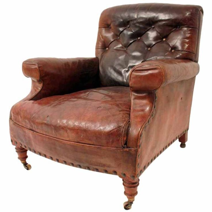 Late 19th Century Leather Gentleman's Club Chair