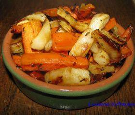 Carottes et navets rôtis au miel - Légumes au four
