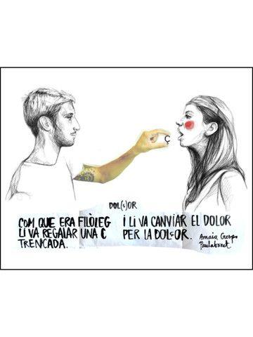 """""""Com que era filòleg li va regalar una Ç i li va canviar el dolor per la dolçor"""" #paulabonet #amaiacrespo"""