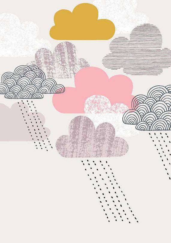 【楽天市場】ELOISE RENOUF | PASSING SHOWER PINK | A3 アートプリント/ポスター:北欧雑貨と音楽 HAFEN ハーフェン
