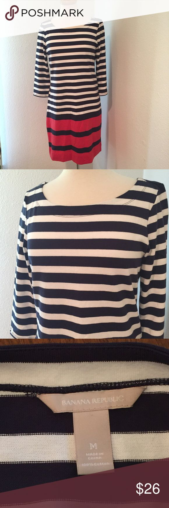 Banana Republic Nautical Striped Shift Dress Perfect dress for summer functions! In very good condition. Banana Republic Dresses