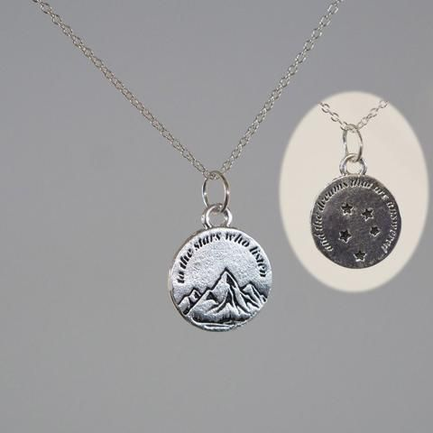 To the Stars Who Listen Silver Plated Charm