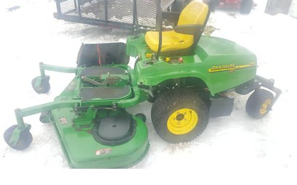 This is a great shape john deere 60in commercial zero turn mower. This is the f680 model and it needs a motor. There is no motor to this machine I do not have it but do still have the muffler everything else on the machine looks complete.
