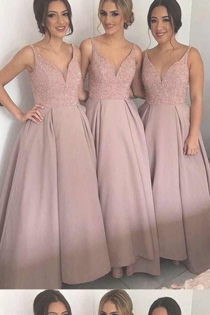 Custom Wedding Dresses Beautiful Wedding Dresses V Neck Wedding Dresses Pretty Bridesmaid Dress V Neck Wedding Dress Wedding Dresses Long Bridesmaid Dresses