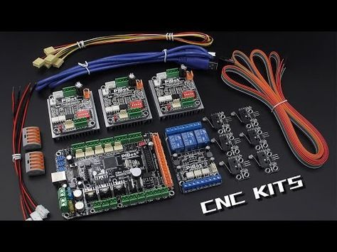 Connect PiBot GRBL CNC Electronics kits on a Openbuilds Kits CNC - YouTube