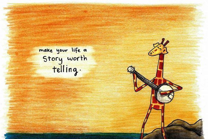 motivating giraffe - also on facebook