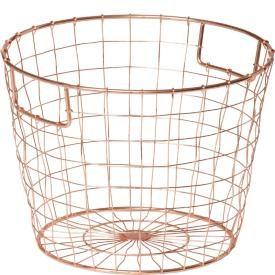 Copper colored basket
