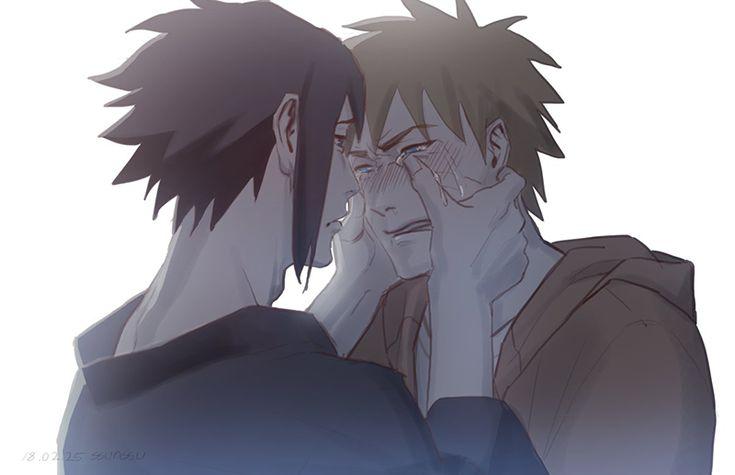 don't cry ;___; SasuNaru