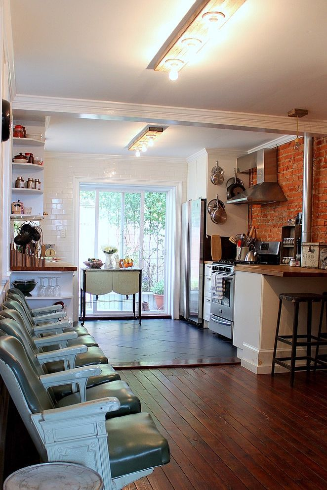 Eclectic South Philly Row House Homeadore House Design Kitchen Row House Design House Interior Open concept row house