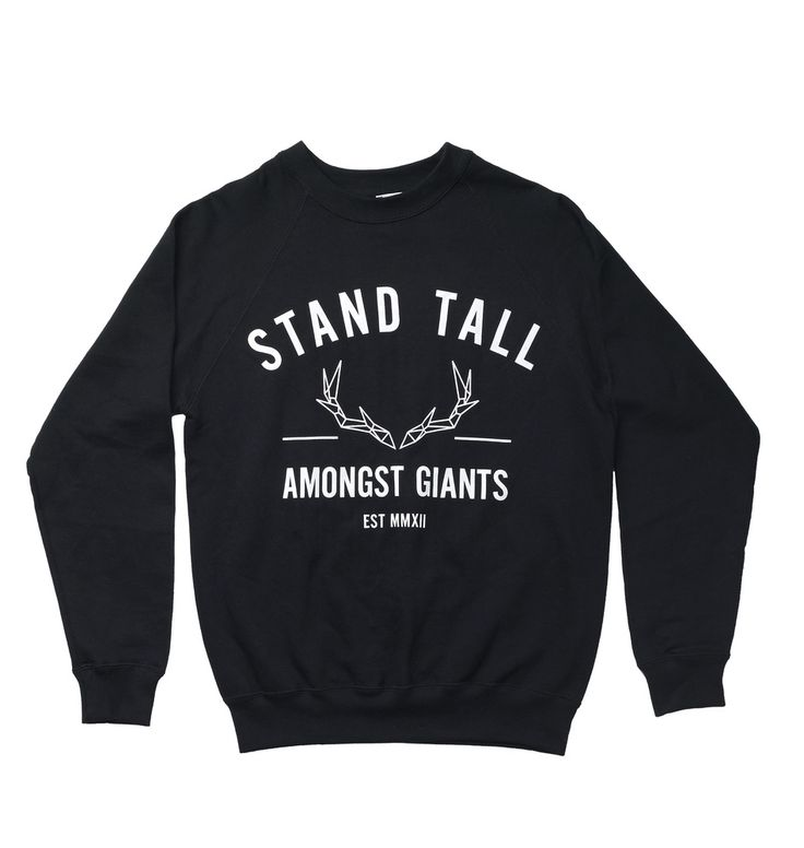 VARSITY JUMPER // BLACK // Stag Clothing // STAND TALL AMONGST GIANTS