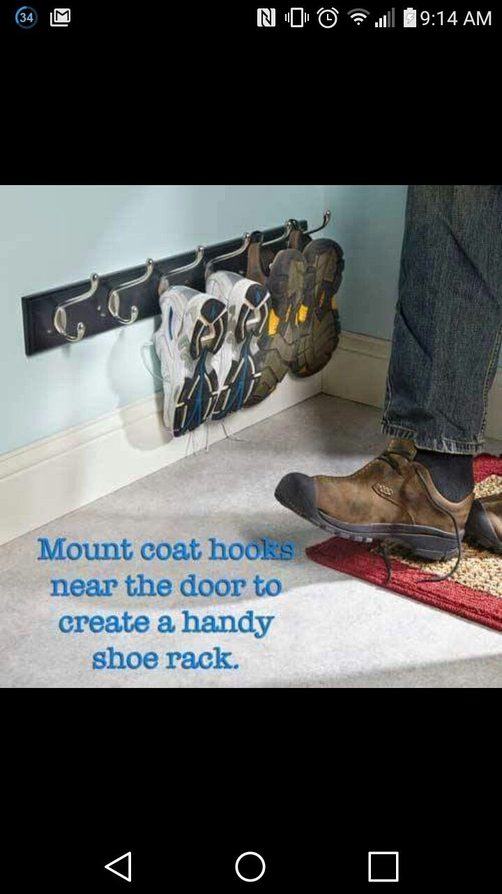 Shoe rack wall mounted