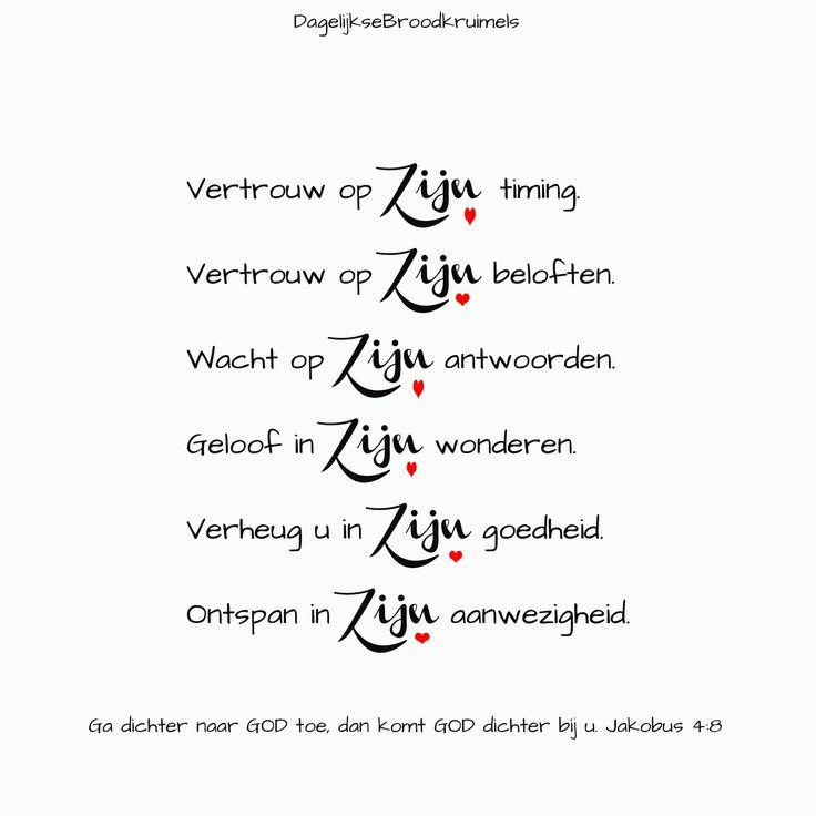 Ga dichter naar God toe, dan komt God dichter bij u. Jakobus 4:8  #God, #HetWoord, #Waarheid  https://www.dagelijksebroodkruimels.nl/jakobus-4-8/