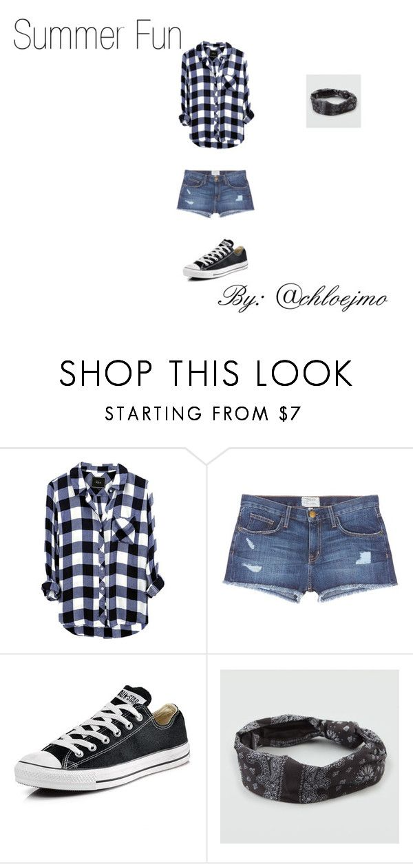 """""""Summer Fun"""" by chloejmo ❤ liked on Polyvore featuring Current/Elliott, Converse and Full Tilt"""