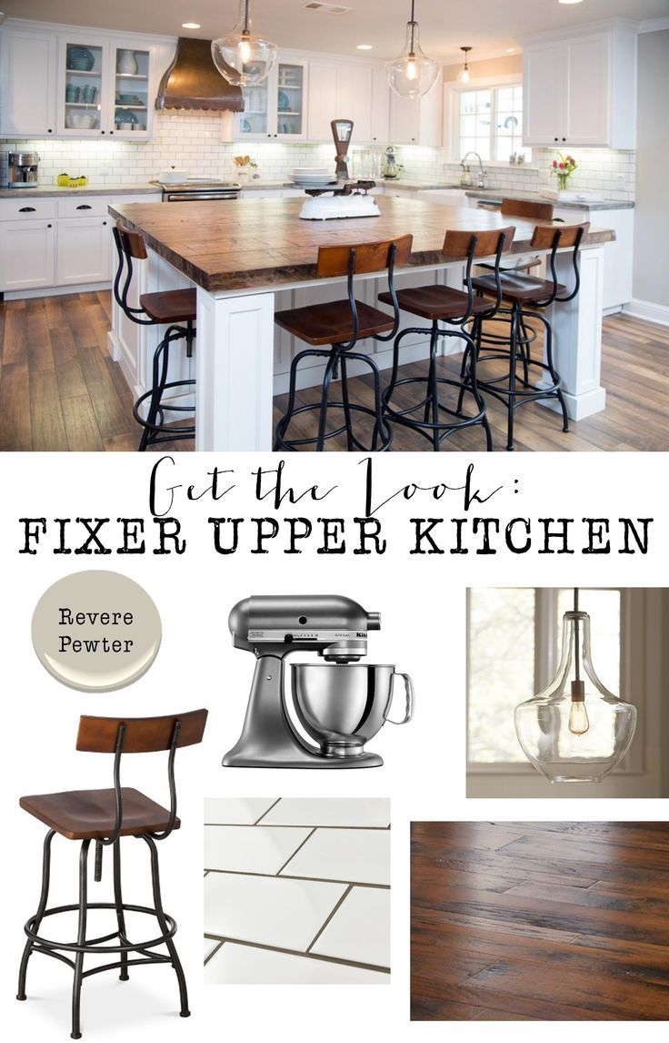 Fixer upper double kitchen island - Get The Look Fixer Upper Kitchen