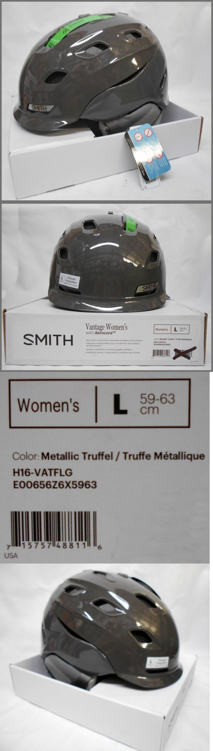 Protective Gear 36260: Large Smith Optics Womens Adult Vantage Snow Winter Helmet - Metallic Truffel -> BUY IT NOW ONLY: $99.99 on eBay!
