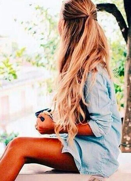 //Beautiful #long hair