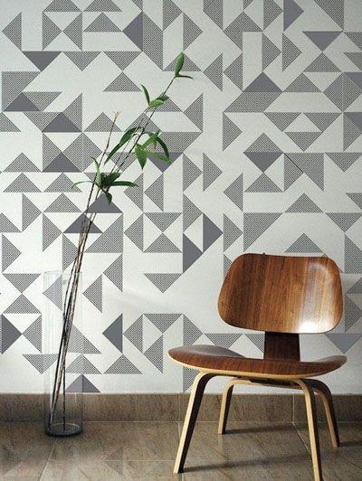 Geometrisch behang  - Woontrend: 20 geometrische vormen van Pinterest