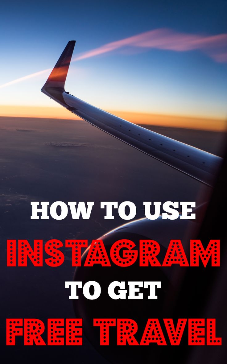 FREE CHEAT SHEET >> Get free travel easily using Instagram (trust me it's easy!)