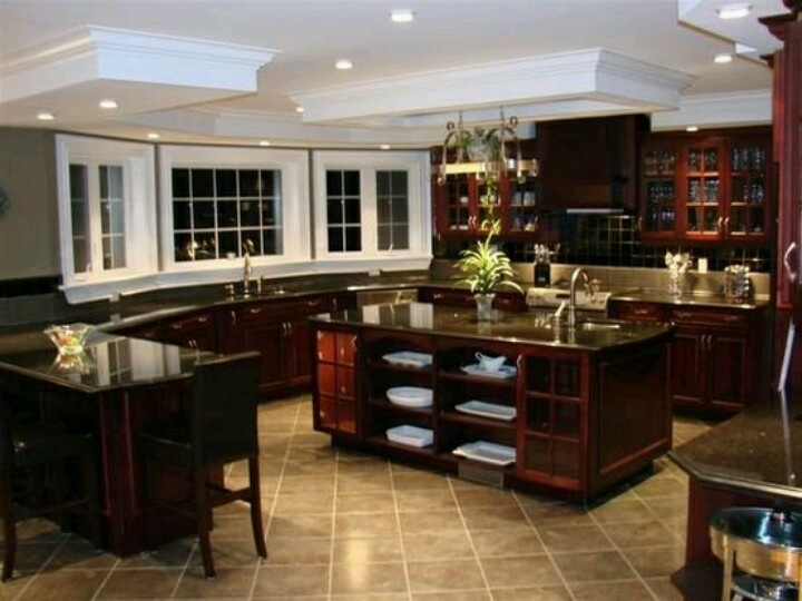 beautiful big kitchen my future home pinterest. Black Bedroom Furniture Sets. Home Design Ideas