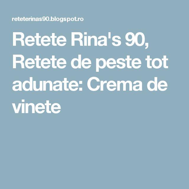 Retete Rina's 90, Retete de peste tot adunate: Crema de vinete