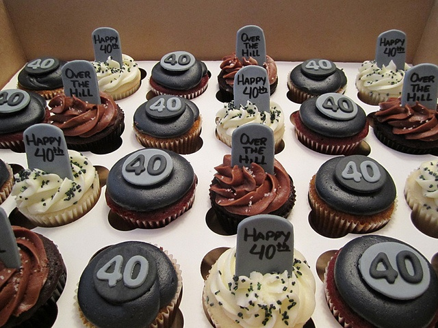Over the Hill Cupcakes by Cutie Cakes WY, via Flickr
