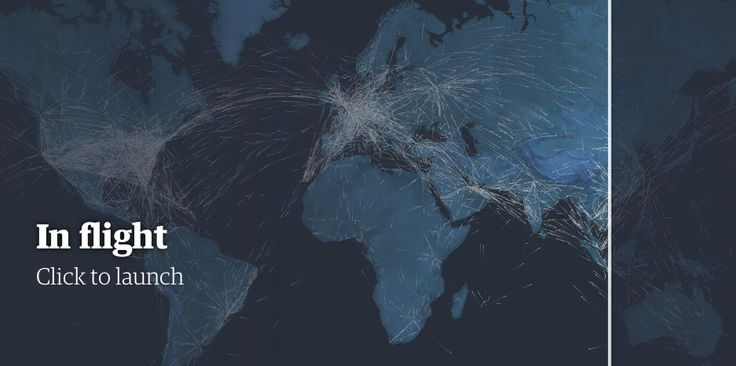 Guardian Microsite Shows Every Plane In The Sky Right Now: Interactive Project Celebrates 100 Years Of Aviation
