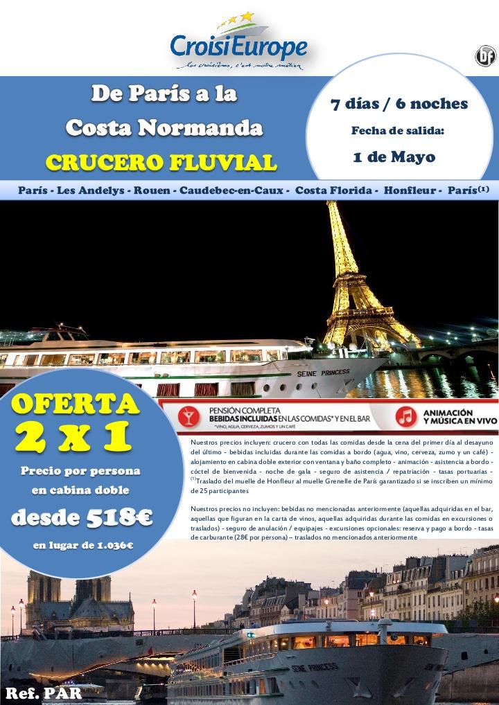Oferta 2x1 Puente de Mayo: Crucero fluvial por el Sena - http://zocotours.com/oferta-2x1-puente-de-mayo-crucero-fluvial-por-el-sena/