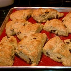 """World's Best Scones! From Scotland to the Savoy to the U.S. Allrecipes.com~I only use 3 teaspoons of baking powder for this recipe & find they taste less """"metalic"""" ... You can substitute  anything for the currents & raisins. Try grated lemon peel & poppy seeds or chocolate chips or berries!"""