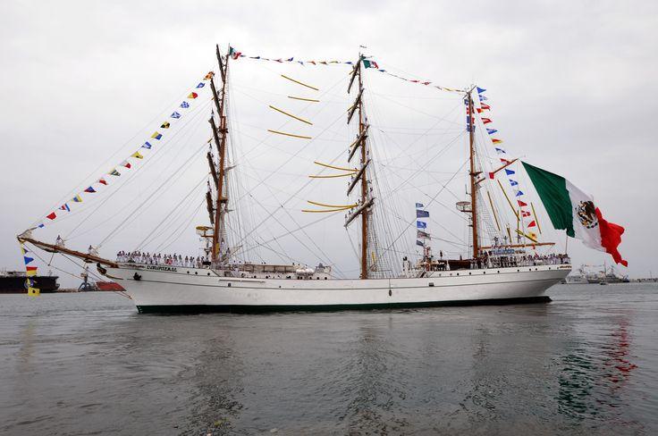 En una travesía estimada en más de 22 mil millas náuticas, el Cuauhtémoc surcará los océanos Pacífico y Atlántico, así como en el Mar Báltico, para arribar a 17 puertos de 14 países, con los que México estrechará, de este modo, sus relaciones de amistad.