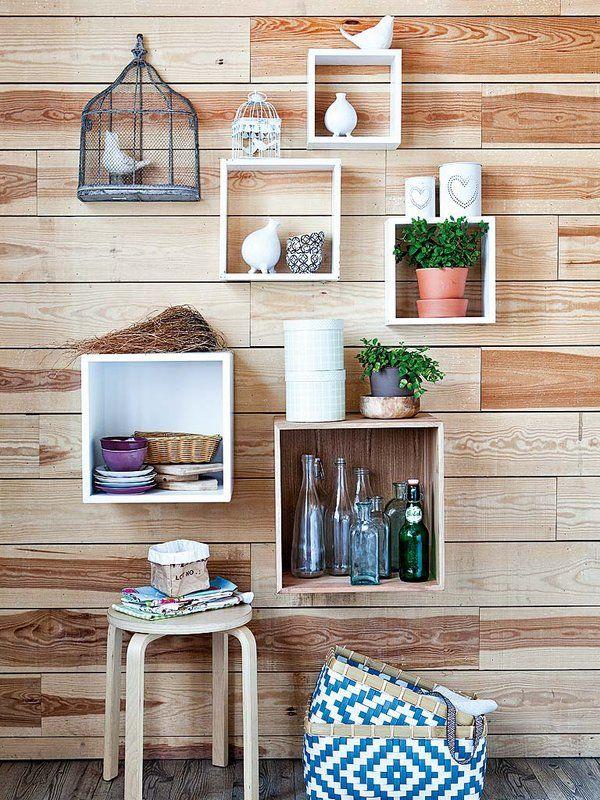 cubos de madera para pared hexagonal ikea