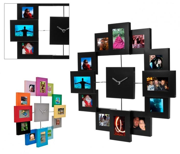 Bilderrahmen Uhr - Wanduhr für deine Fotos   Sowas will ich auch