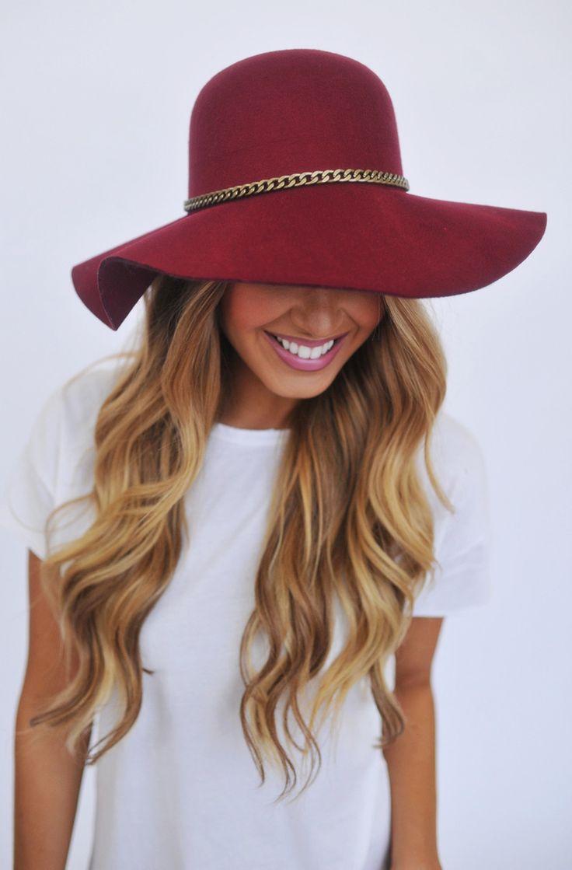 Dottie Maroon Boutique   shoes sport womens Couture Floppy Hat
