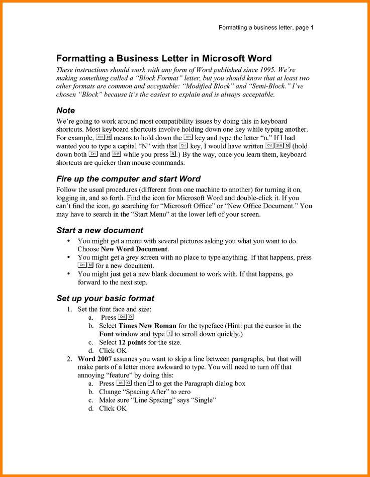 Ponad 20 najlepszych pomysłów na Pintereście na temat Business - microsoft word professional letter template