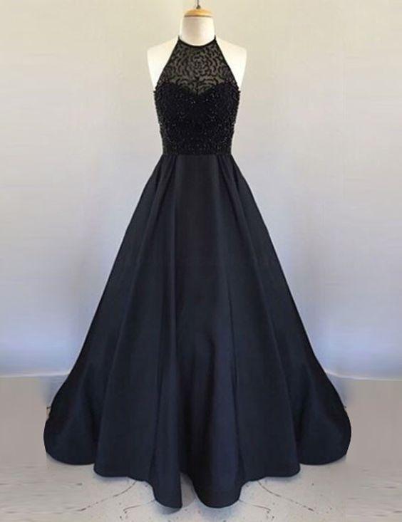 Beaded Prom Dress,Halter Prom Dress,A Line Prom Dress,Fashion Prom Dress,Sexy Party Dress, New Style Evening Dress