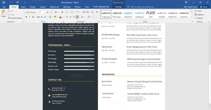 perfect #resume #cv for your #job getting, You can easily edit this resume using #msword perfect cv design, cv design template, new cv  Download this now:   https://crmrkt.com/0qgy