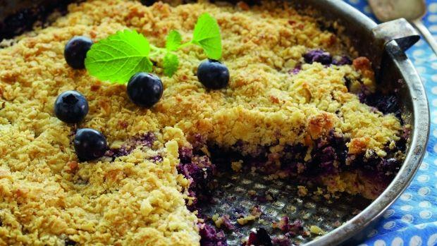 Skøn smuldretærte med blåbær