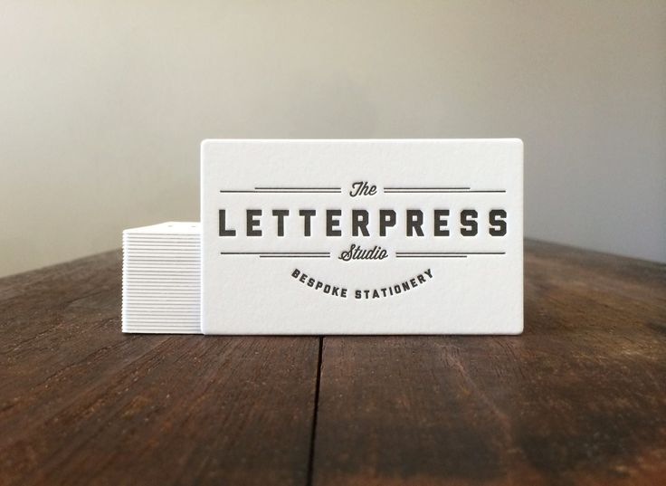 The Letterpress Studio's beautiful business cards printed with a double sided black print on the Crane Lettra 600gsm cotton stock.