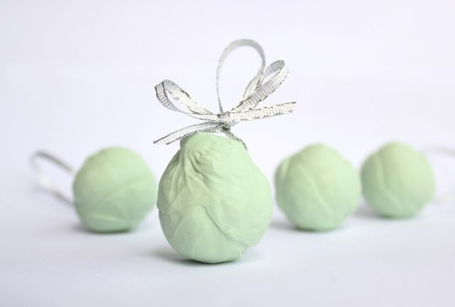 Porcelain Sprout Christmas Decorations £6.00