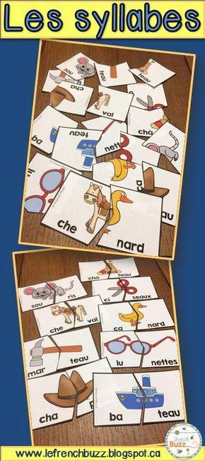 Puzzles/casse-tête pour pratiquer les mots de 2 syllabes