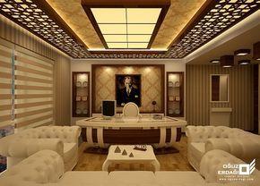 Avangard Beyaz Makam Odası Tasarımları | Avangard Ofis ve Makam Mobilyaları