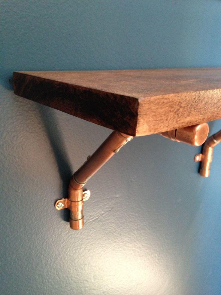 Copper Pipe Shelf Home Office Ideas Copper Pipe