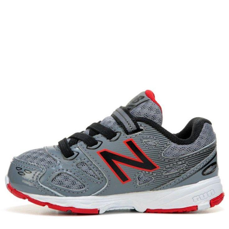 New Balance Kids' KA680 Medium/Wide/X-Wide Sneaker Baby/Toddler Shoes (Grey/Black Leather) - 10.0 2W