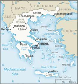 Grecia - Mappa
