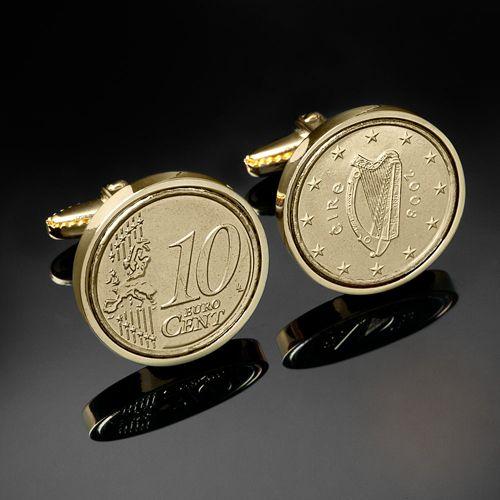 Gold Cufflinks Ireland USD $49.00