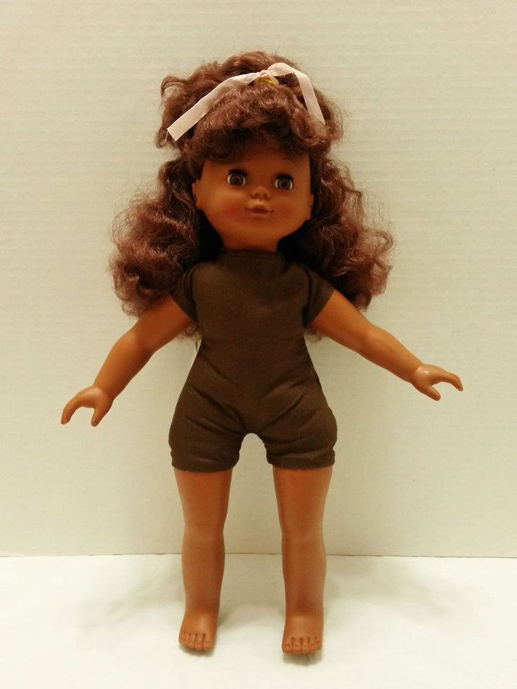 """Cititoy - African American Doll - Toy 1992 (Cloth Body) Open & Close Eyes 17"""" tall #HKCityToys #Doll  ..... Visit all of our online locations..... www.stores.ebay.com/ourfamilygeneralstore ..... www.bonanza.com/booths/Family_General_Store ..... www.facebook.com/OurFamilyGeneralStore"""