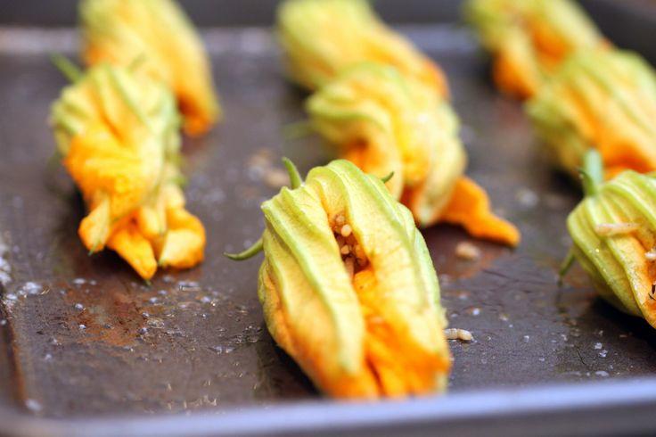 squash blossom and garlic frittata recipe on food52 squash blossom ...