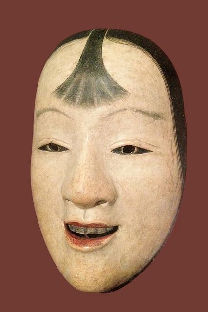 Masque de théâtre Nô (musée Guimet) by dalbera, via Flickr