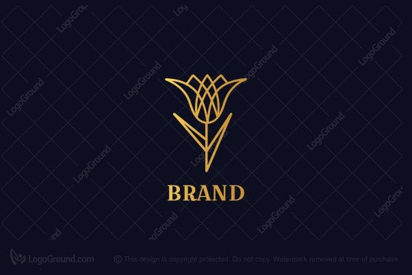 Exclusive Logo 107795 Modern Luxury Tulip Logo With Images